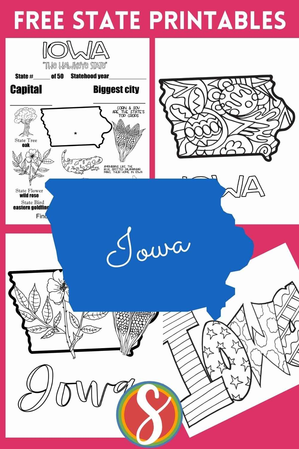 Free US states printable activity pages - practice some geography, learn fun facts about the states, have fun coloring these free sheets about each of the 50 states in the United States