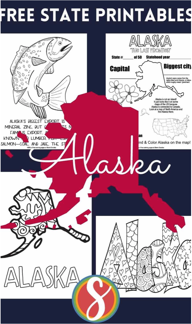 Free! 50 pages free to print and color about the United States - print all 200 pages today
