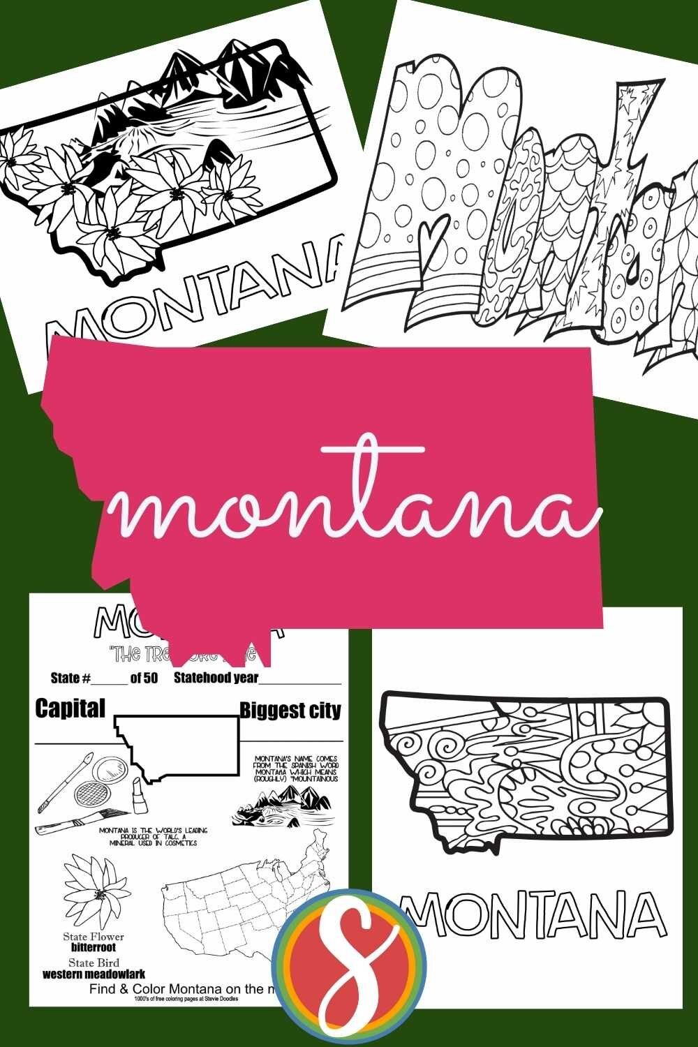Free printable coloring sheets about United States geography - great elementary aged activity to print and use to explore the states. Totally free from Stevie Doodles
