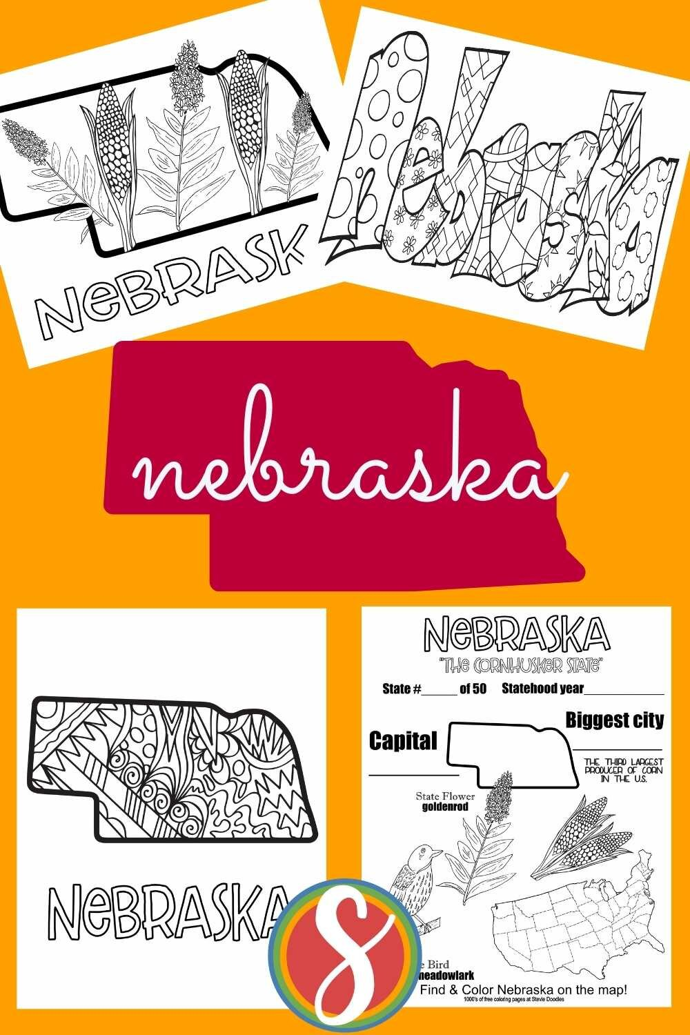 Free printable US states activity pages from Stevie Doodles