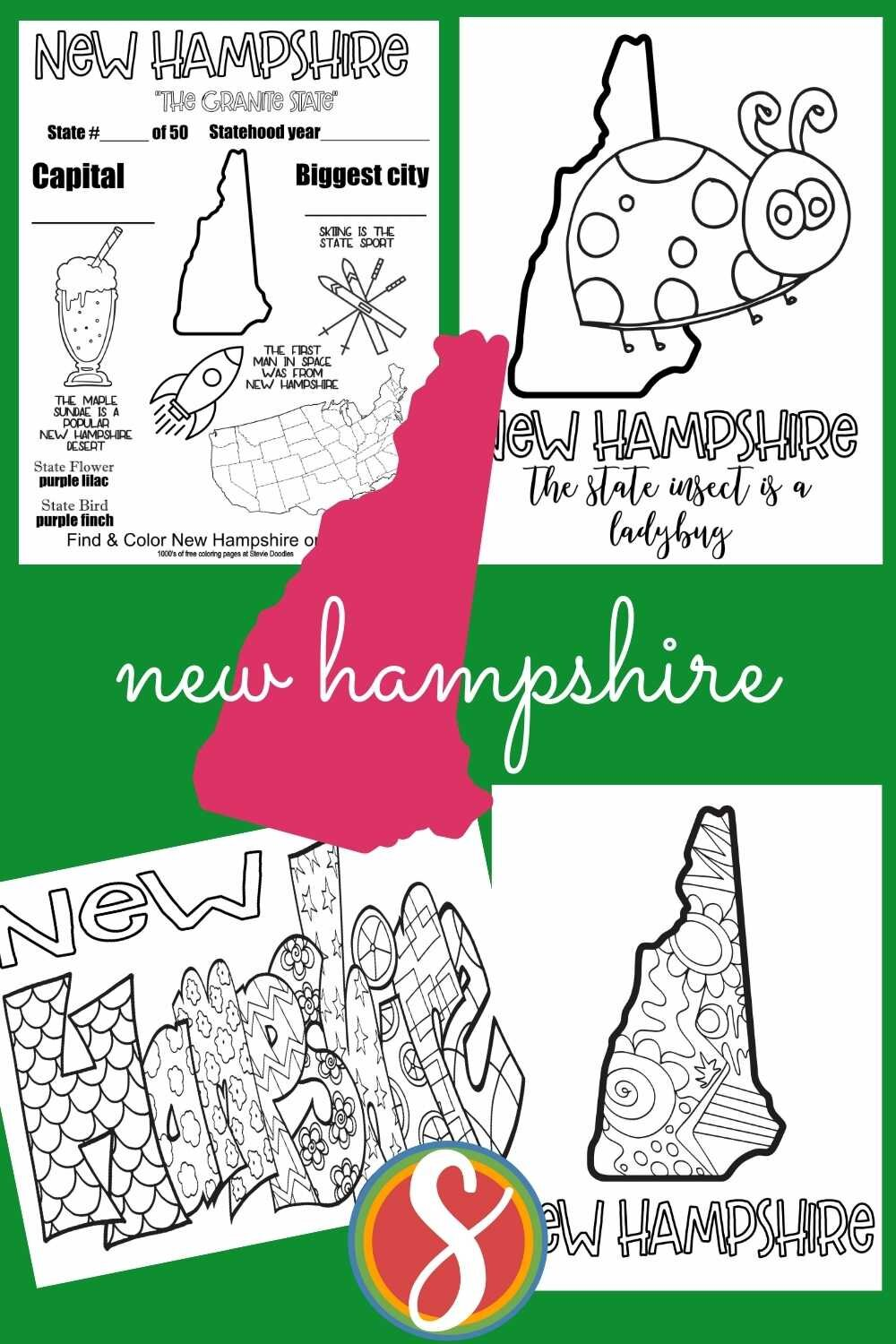 FREE! Grab printable coloring activity sheets about all the US states