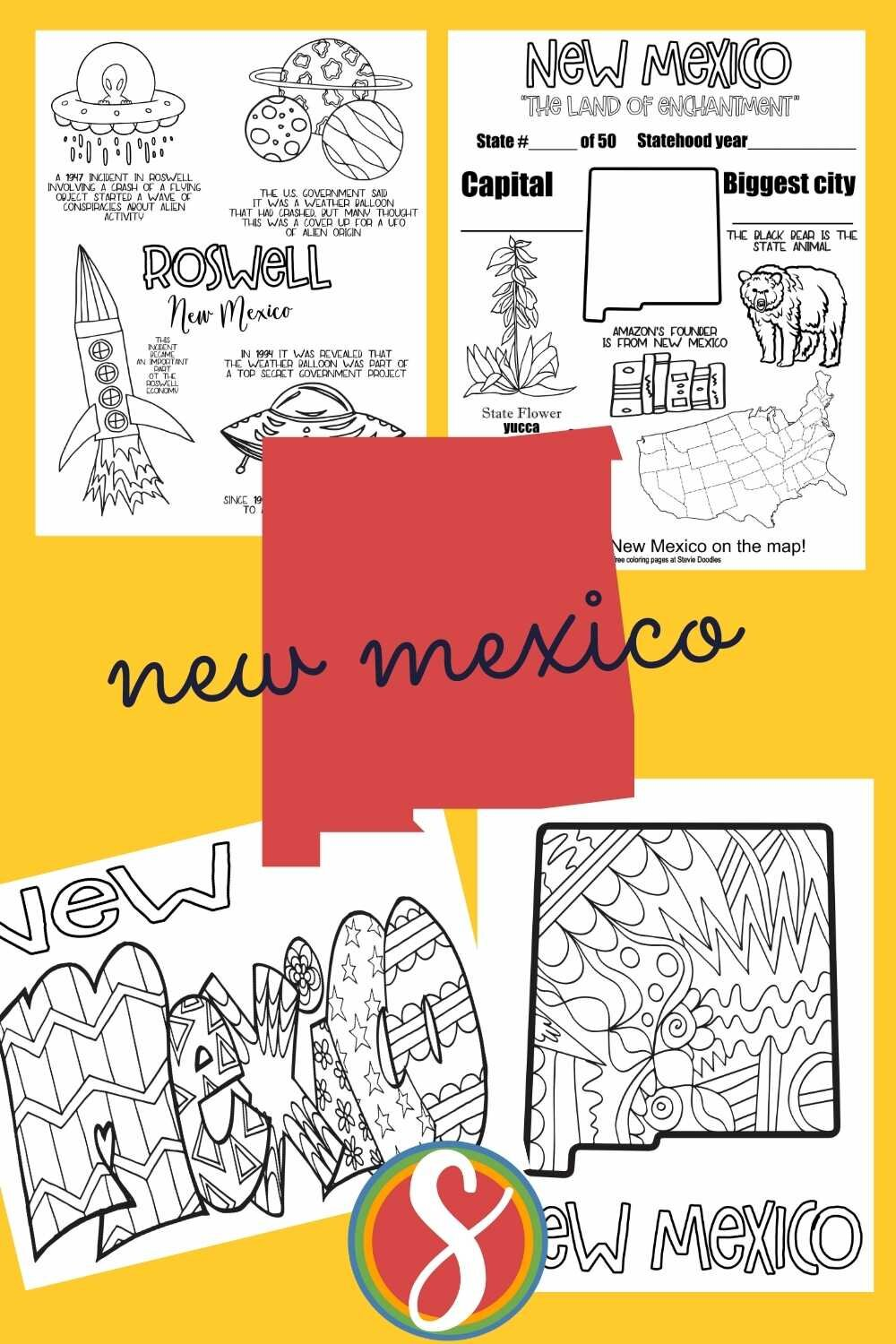Free! 4 pages for every state - free printable coloring sheets about the united states