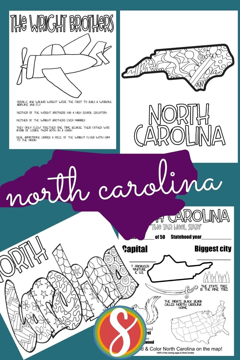 Printable geography activity pages free from Stevie Doodles