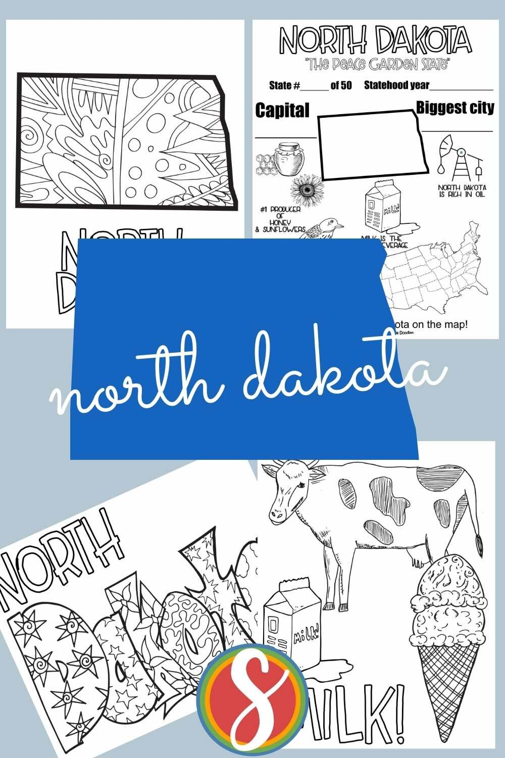 United States printable coloring pages about geography from Stevie Doodles