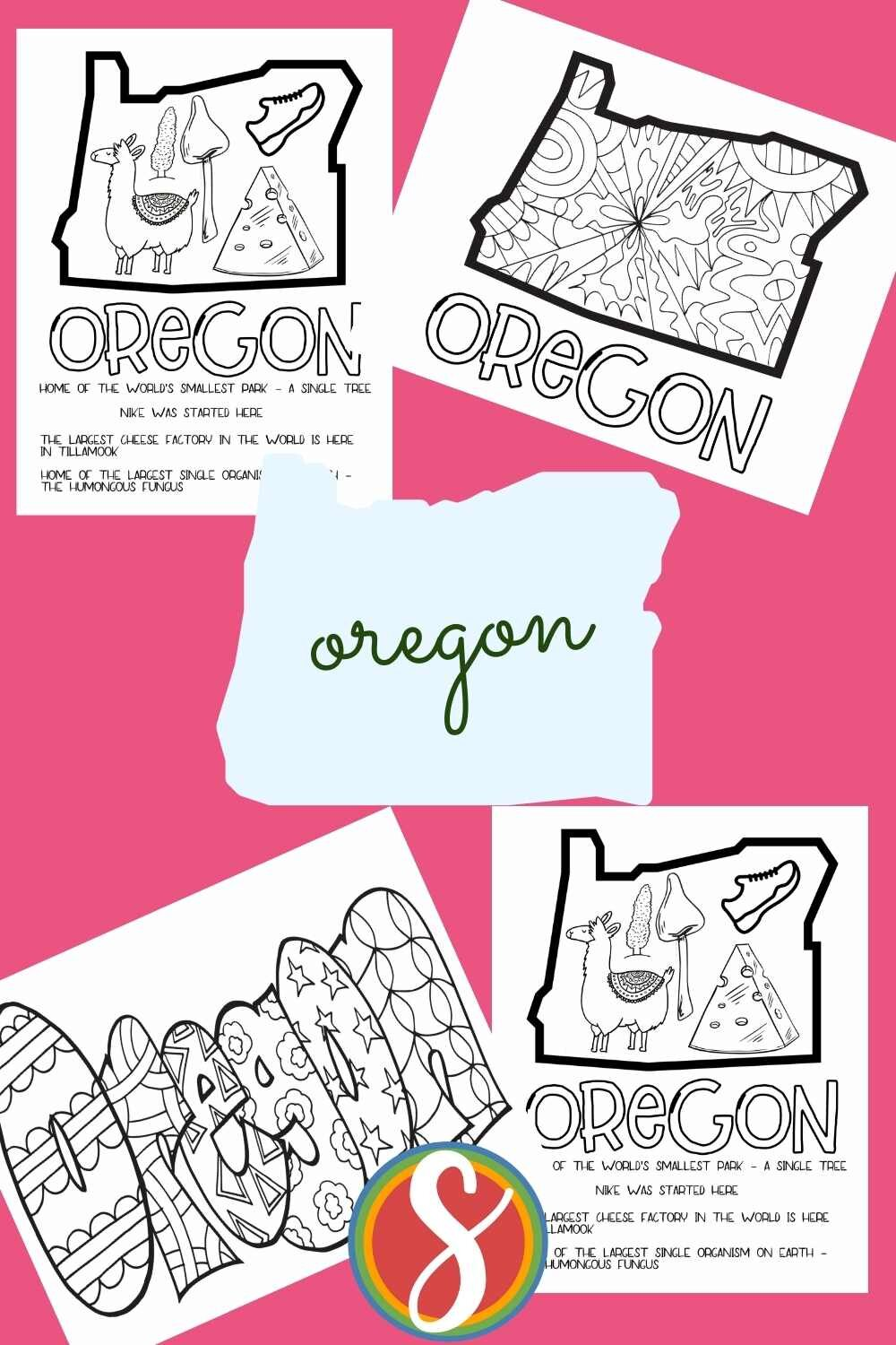 Elementary printable activities - free geography pages to print and color from Stevie Doodles