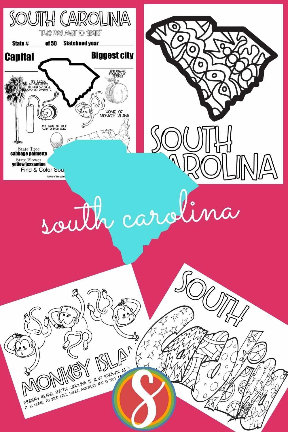 Free to print these US geography activity coloring sheets