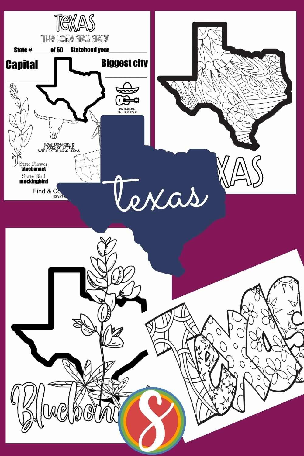 Free! printable activities to print and color about the US states