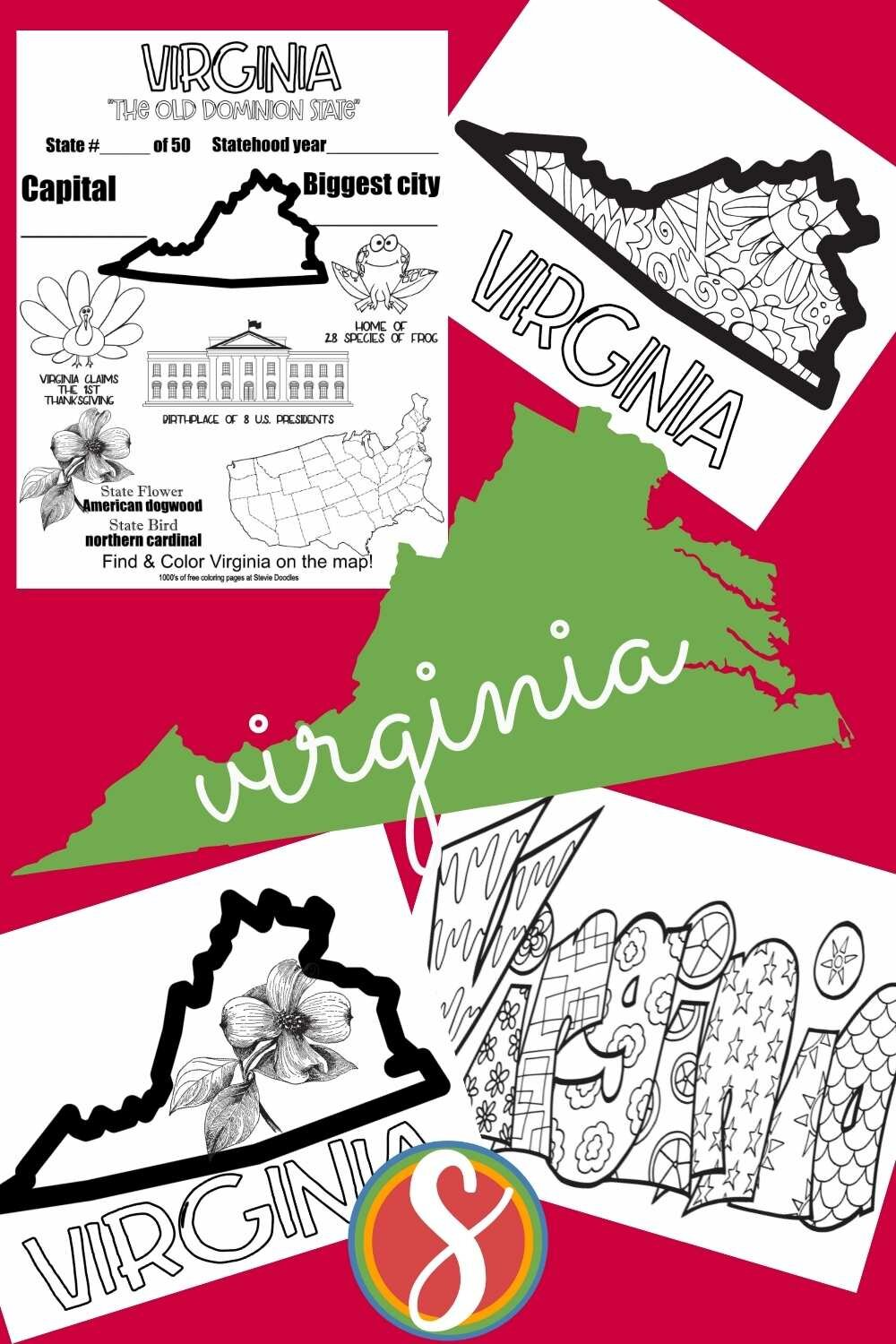 FREE! Find your favorite state and print and color the activity pages for your whole class