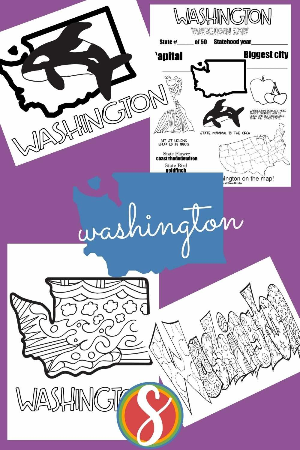 print and color these pages about the United States free from Stevie Doodles - geography activity sheets