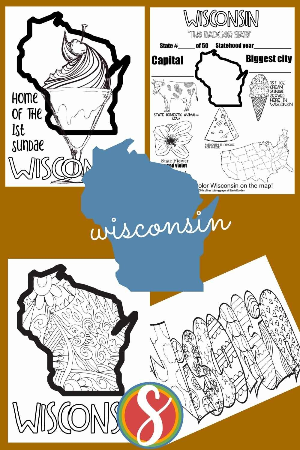 Free United States geography pages to print and color about other states