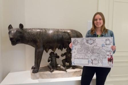Verover je eigen Romeinse rijk! - Opdrachtgever: het Allard PiersonOpdracht: Een speurtocht over de RomeinenDoelgroep: 6 t/m 12 jaarVormgeving: Ingeborg ScheffersJaar: 2017