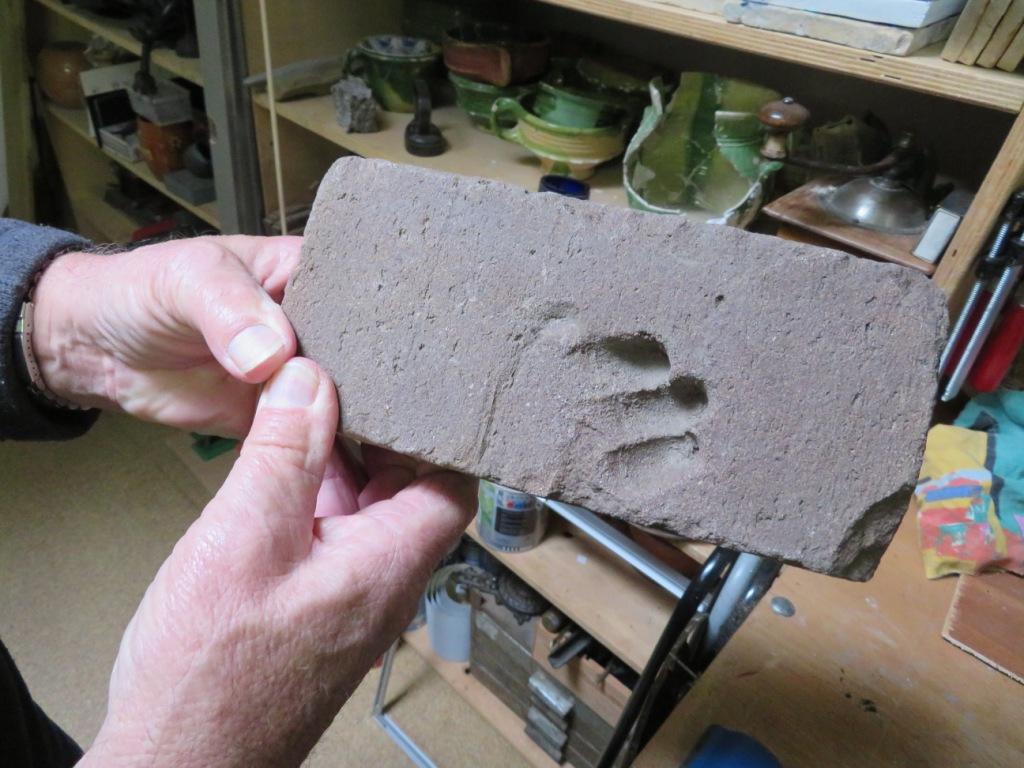 Een Middeleeuwse handafdruk