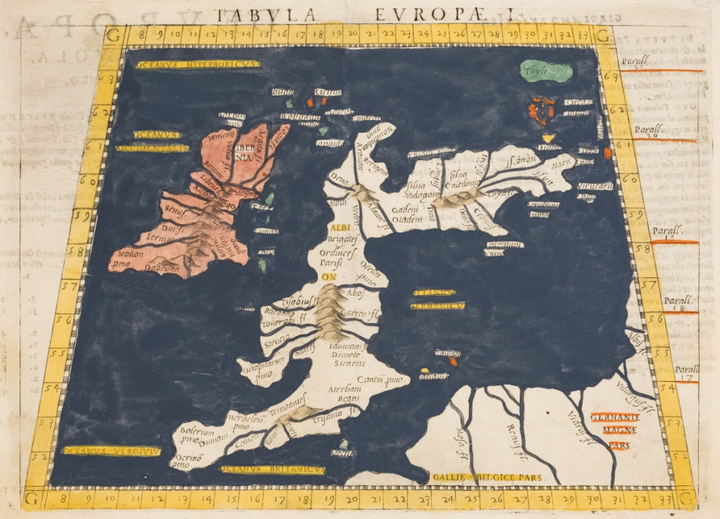 Kaart Griekse geograaf Ptolemaeus (foto: Tom Buijtendorp)