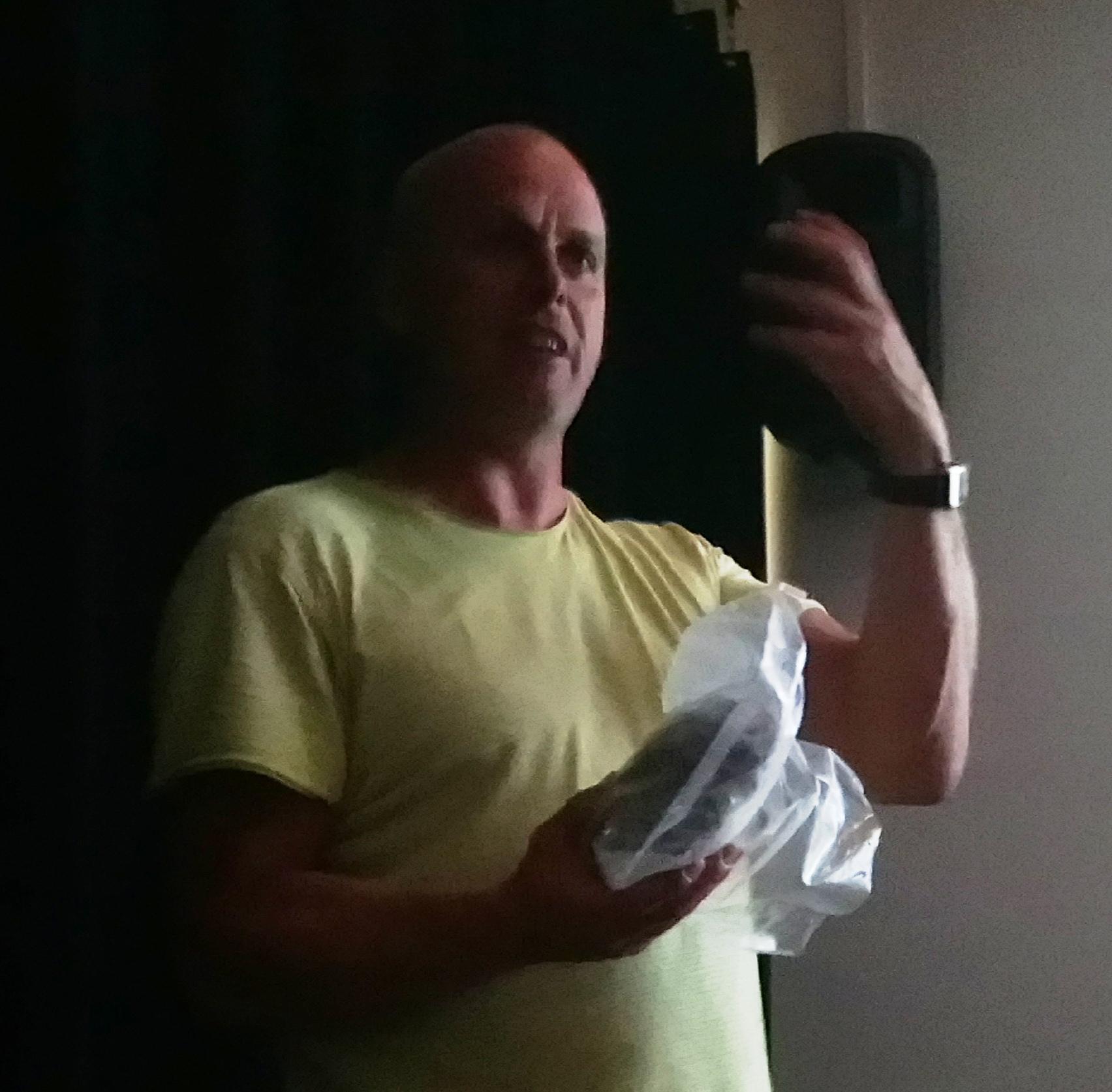 Nils Kerkhoven met de mammoetkies