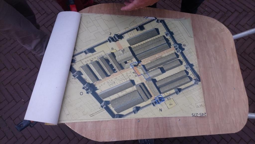 De plattegrond van Castellum Traiectum