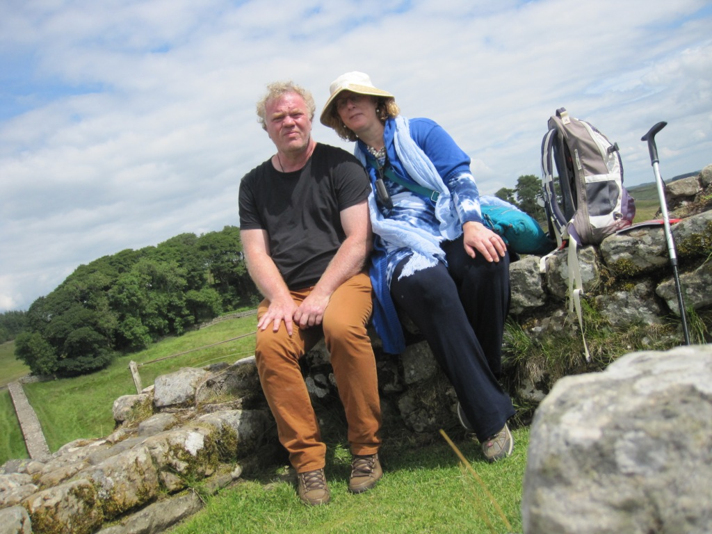 Met Okke Dorenbos bij Hadrinan's Wall