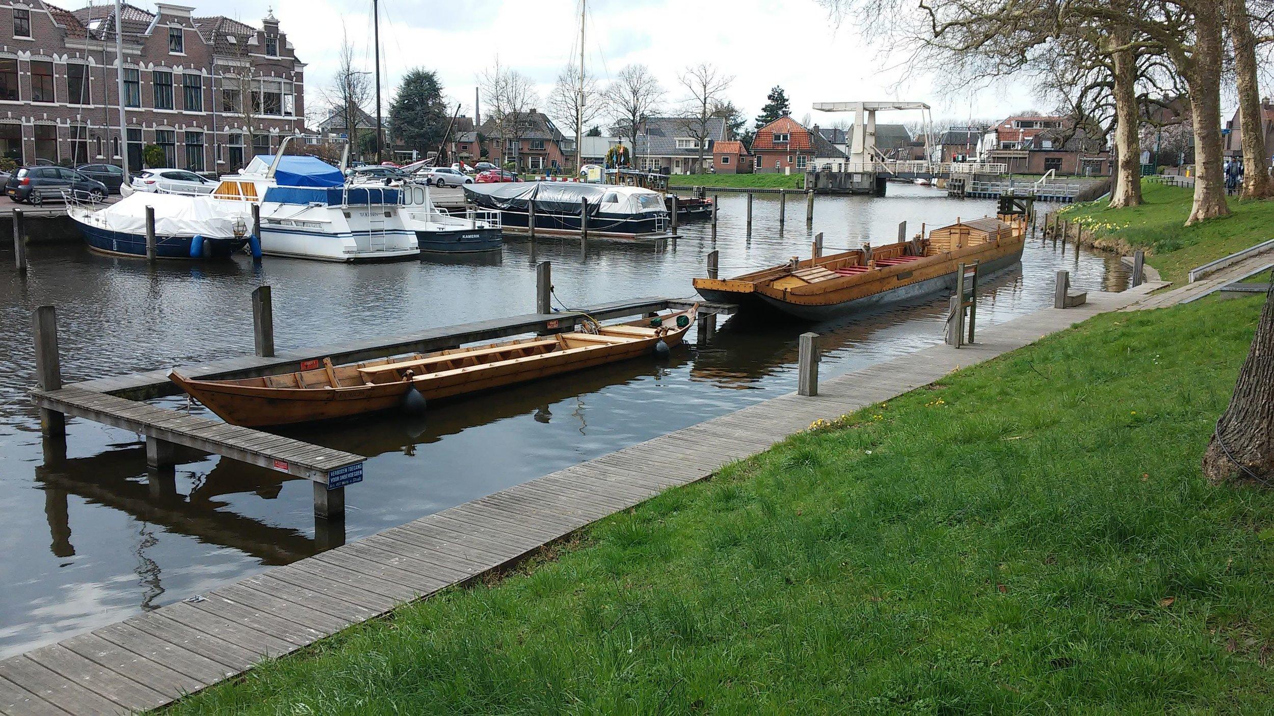 2018: schepen in de haven van Woerden, foto: Henk Vlot