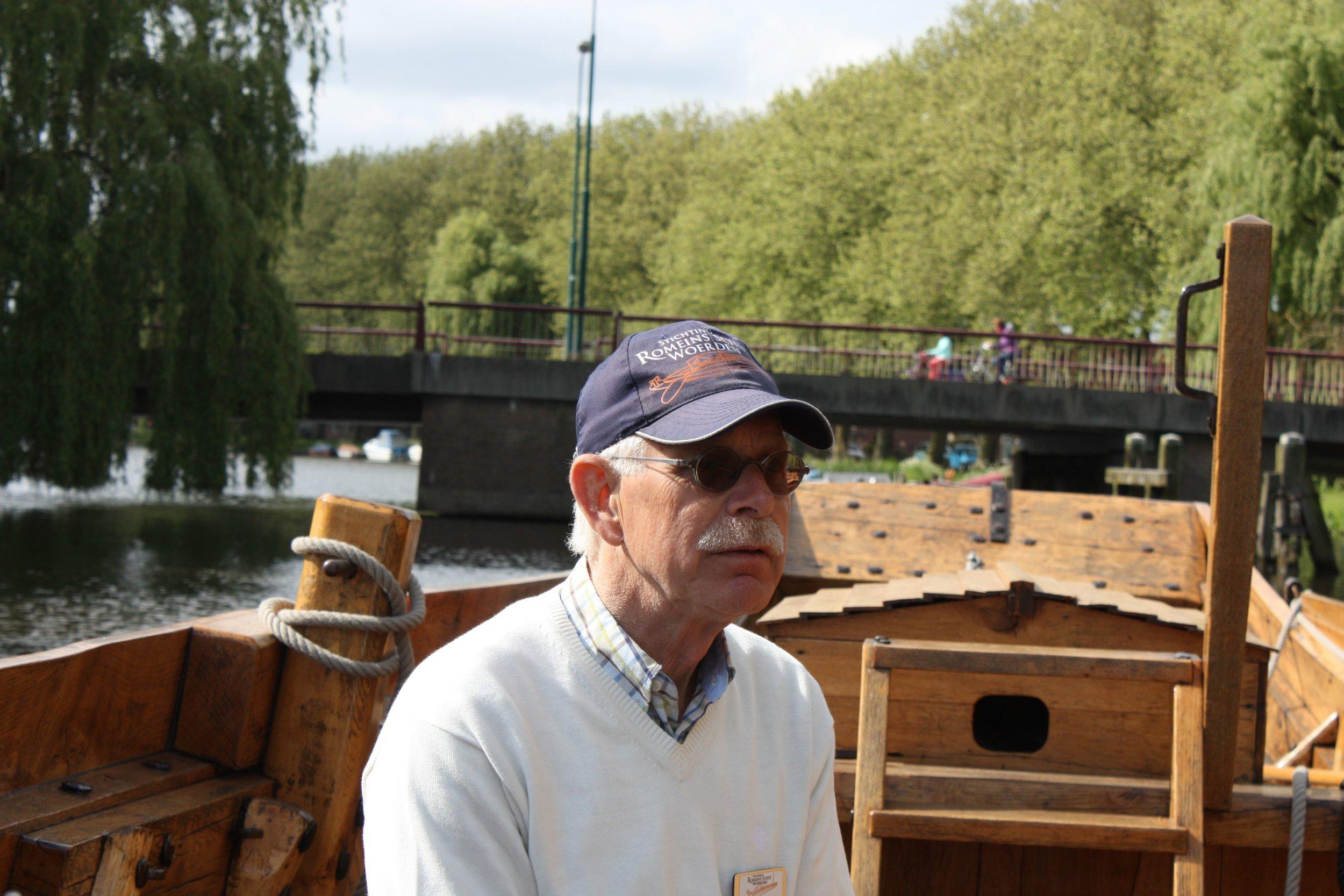 Henk Vlot van Stichting Romeins Schip Woerden