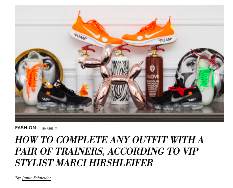 How To Complete Any Outfit With A Pair Of Trainers, According To VIP Stylist Marci Hirshleifer  COVETEUR