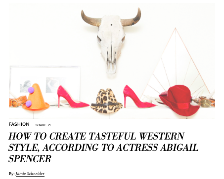 How To Create Tasteful Western Style, According To Actress Abigail Spencer  COVETEUR