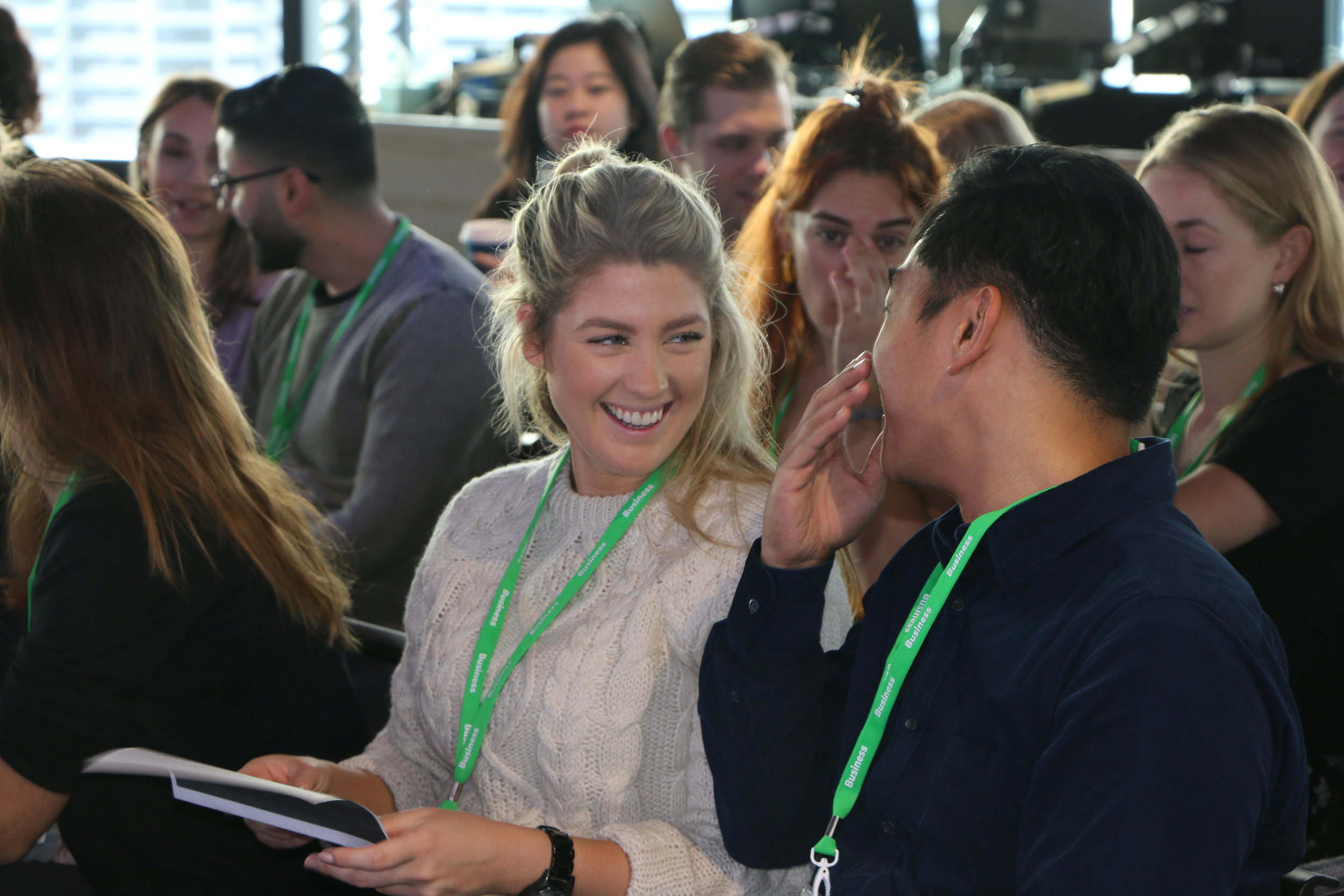 The NGEN cohort learn more about confidence at Facebook headquarters in Sydney.