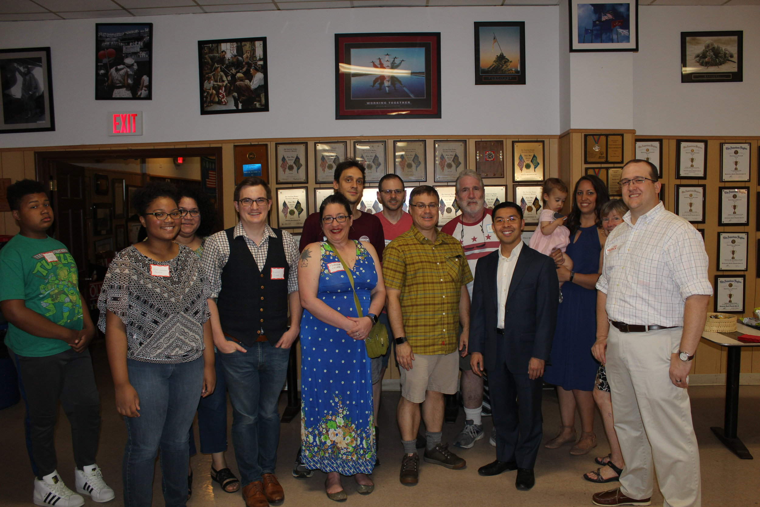 A great group shot with a bunch of James 4 Rockville supporters!