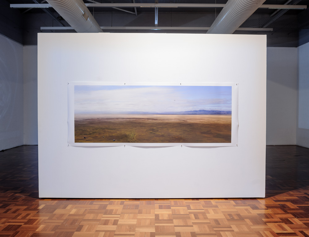 Installation view, Untitled, from the series  Weereewa / Bad water  2016. 3010 x 1180 mm pigment print on cotton rag.