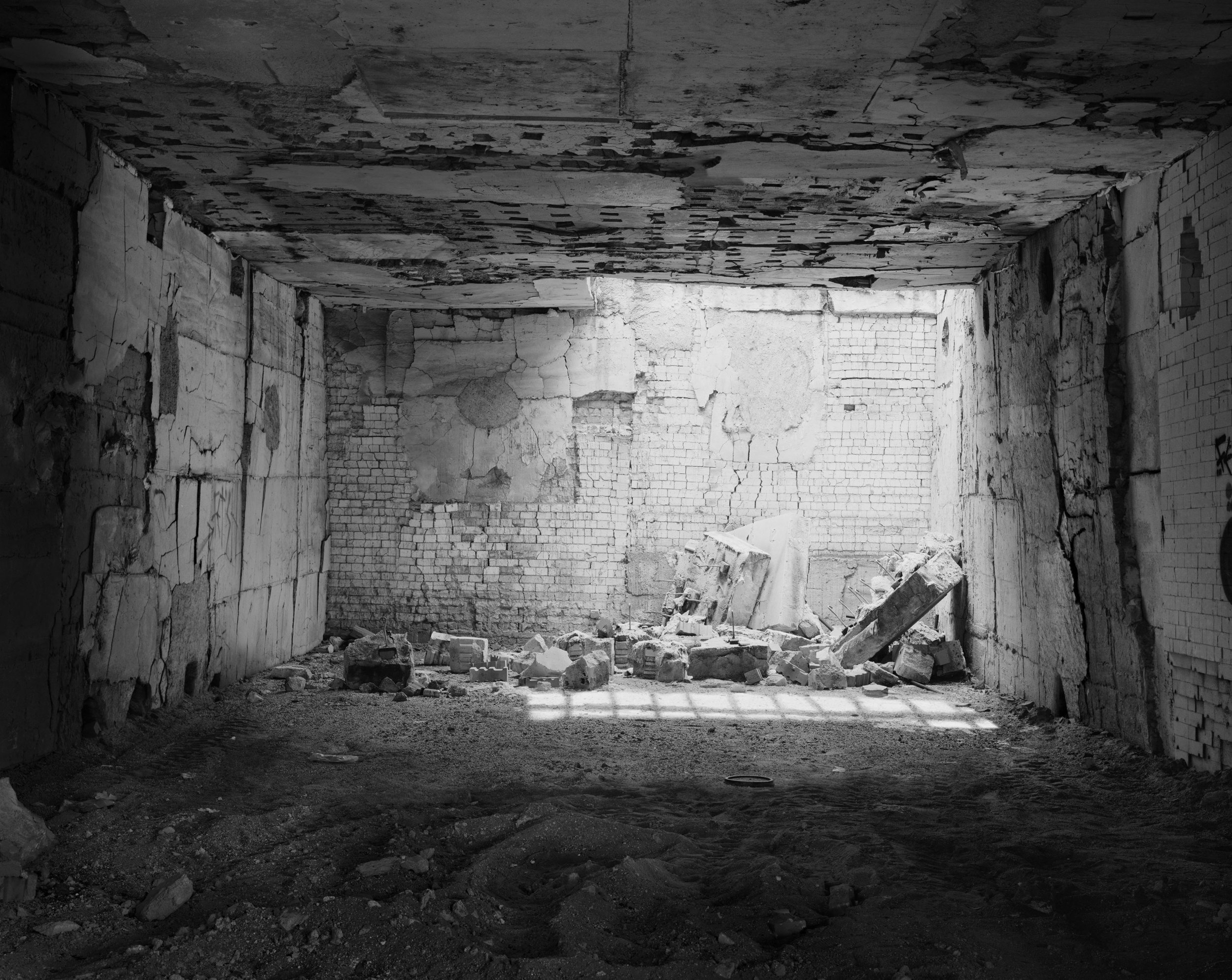 Rowan Conroy  Kiln #1 f rom the Series  The Poetics of Detritus 2008- 2019  (ongoing) .  Piezography print on cotton rag. Finalist in the 2018  Bowness Photography Prize .
