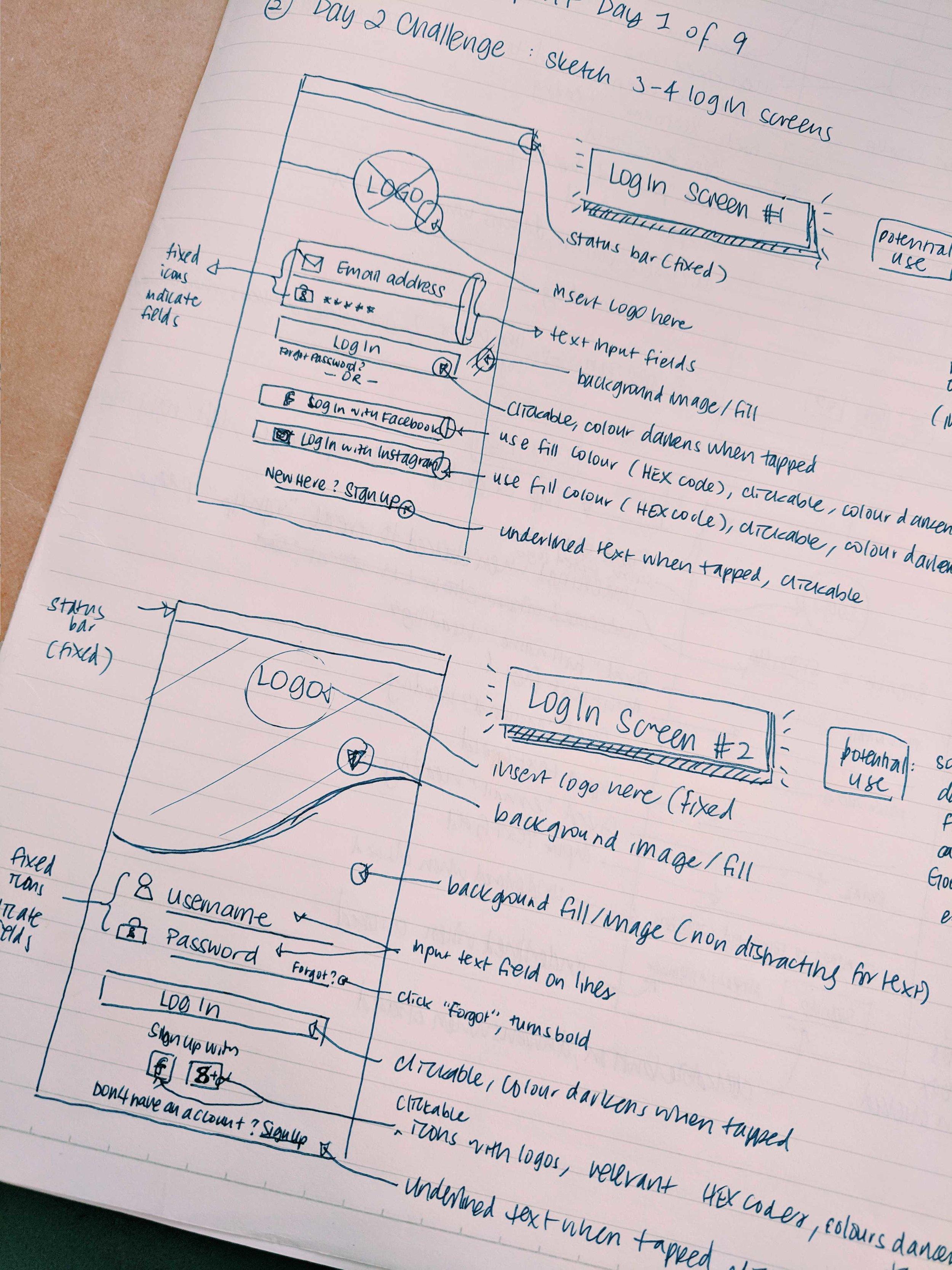 Exploring Log In Screens (part 1)
