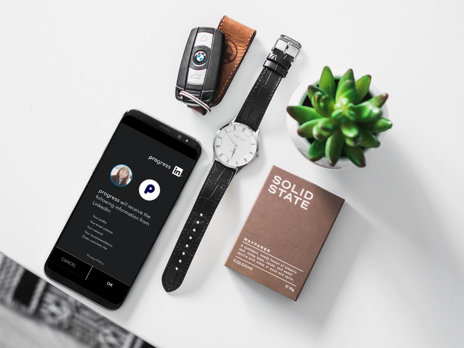 Progress mobile app (Material Design)