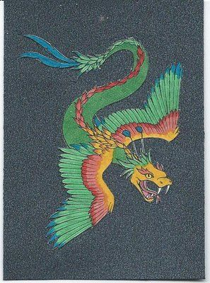 Artist unknown, Quetzacoatl, the Aztec feathered serpent god