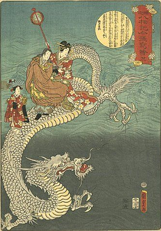 Art by Utagawa Kunisada, 19th century Japanese dragon