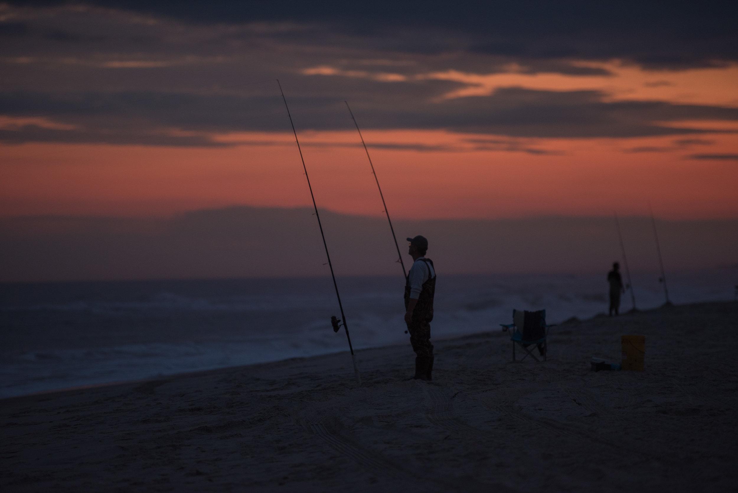 Surf Fishing LBI, NJ - Long Beach Island Offers 18 Miles Of Surf Fishing PARADISE