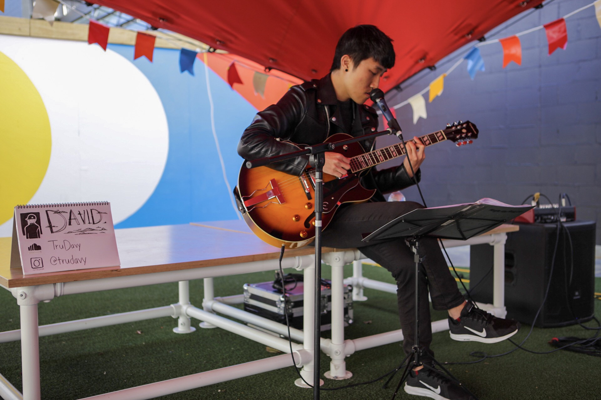 David Choi performing at our Young Buskers Showcase in May to celebrate Youth Week and New Zealand Music Month in May 2019.