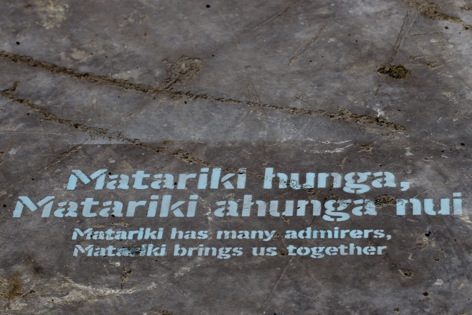 Whakatauki stencils for Matariki to share and acknowledge this time of year in the community.