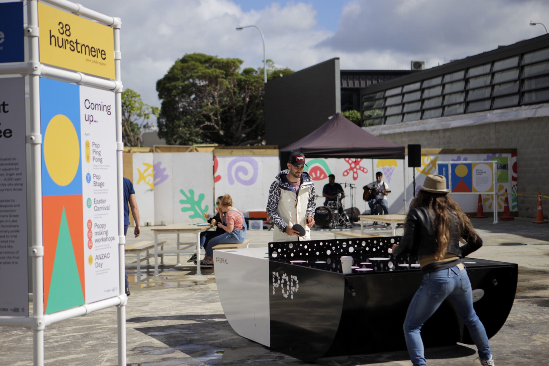 Pop  Ping Pong was one of the first public activities at 38 Hurstmere in April 2019.