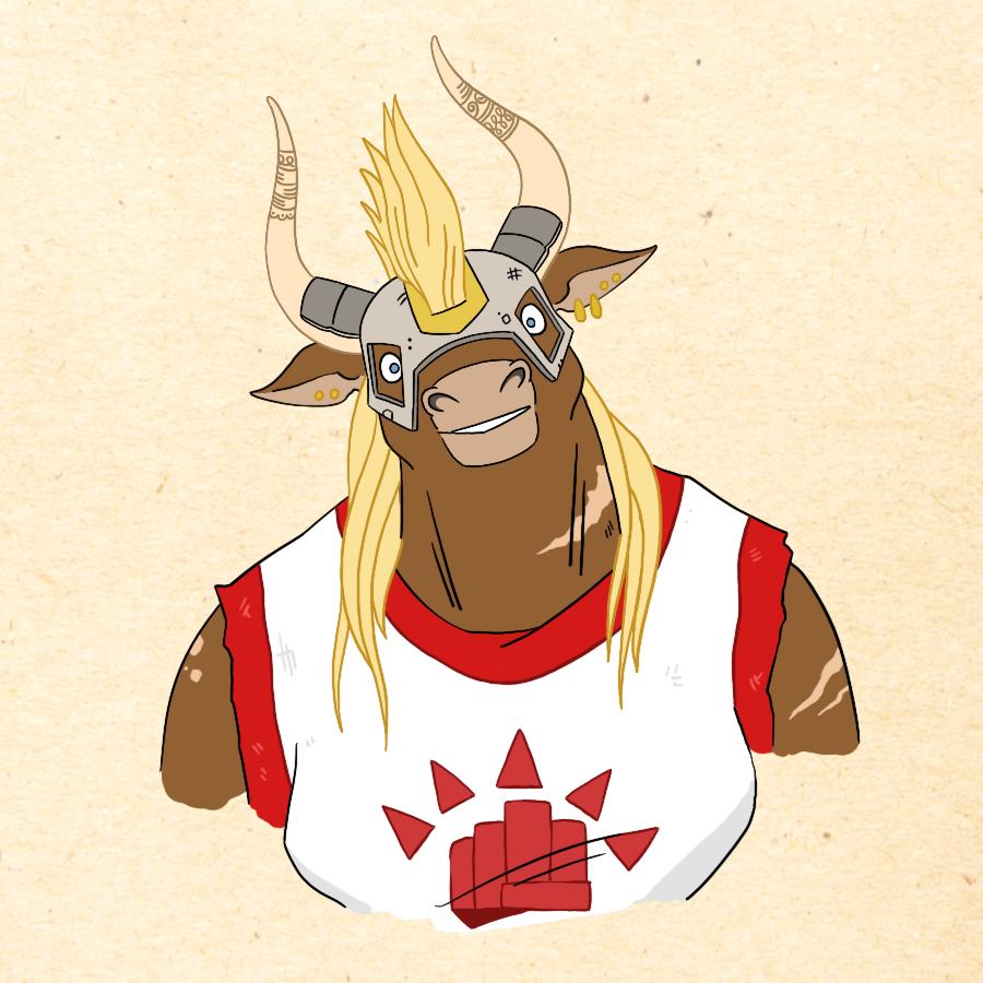 Fikarra Ordrunn - Boros Minotaur Wardrummer (Fighter/Bard)