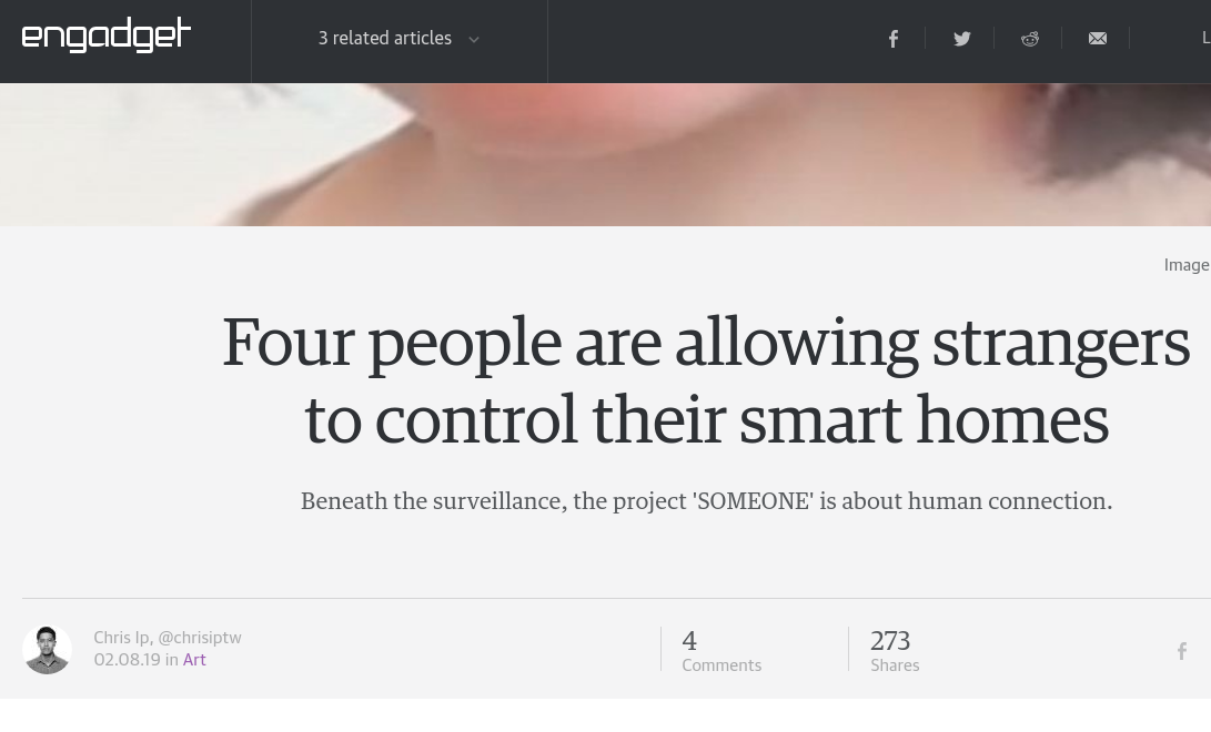 engadget coverage of someone