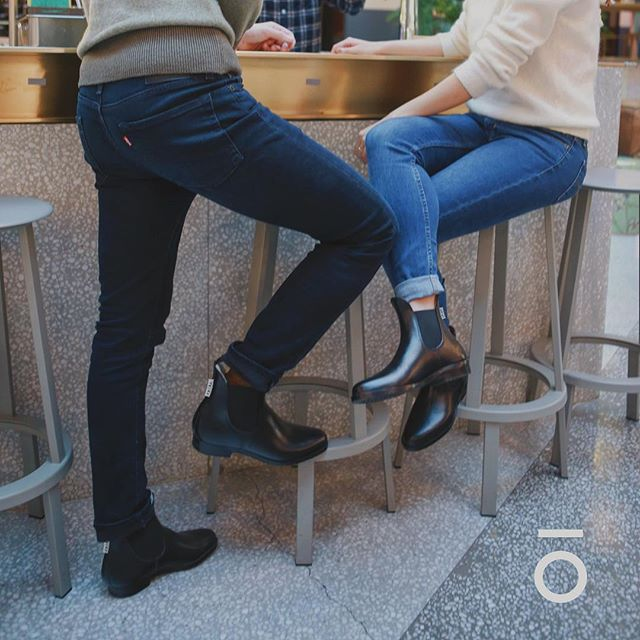 Swiped right. Dressed up. Got drinks. Found love ❤️ ryōka boots - Keeping you confident when you need it most.💪💪💪 . . . #ryoka #ryōka #ryōkaboots #boots #chelseaboots #rainboots #shoes #rain #date #fun #social #ecofriendly #sustainable #upcycling #recycling