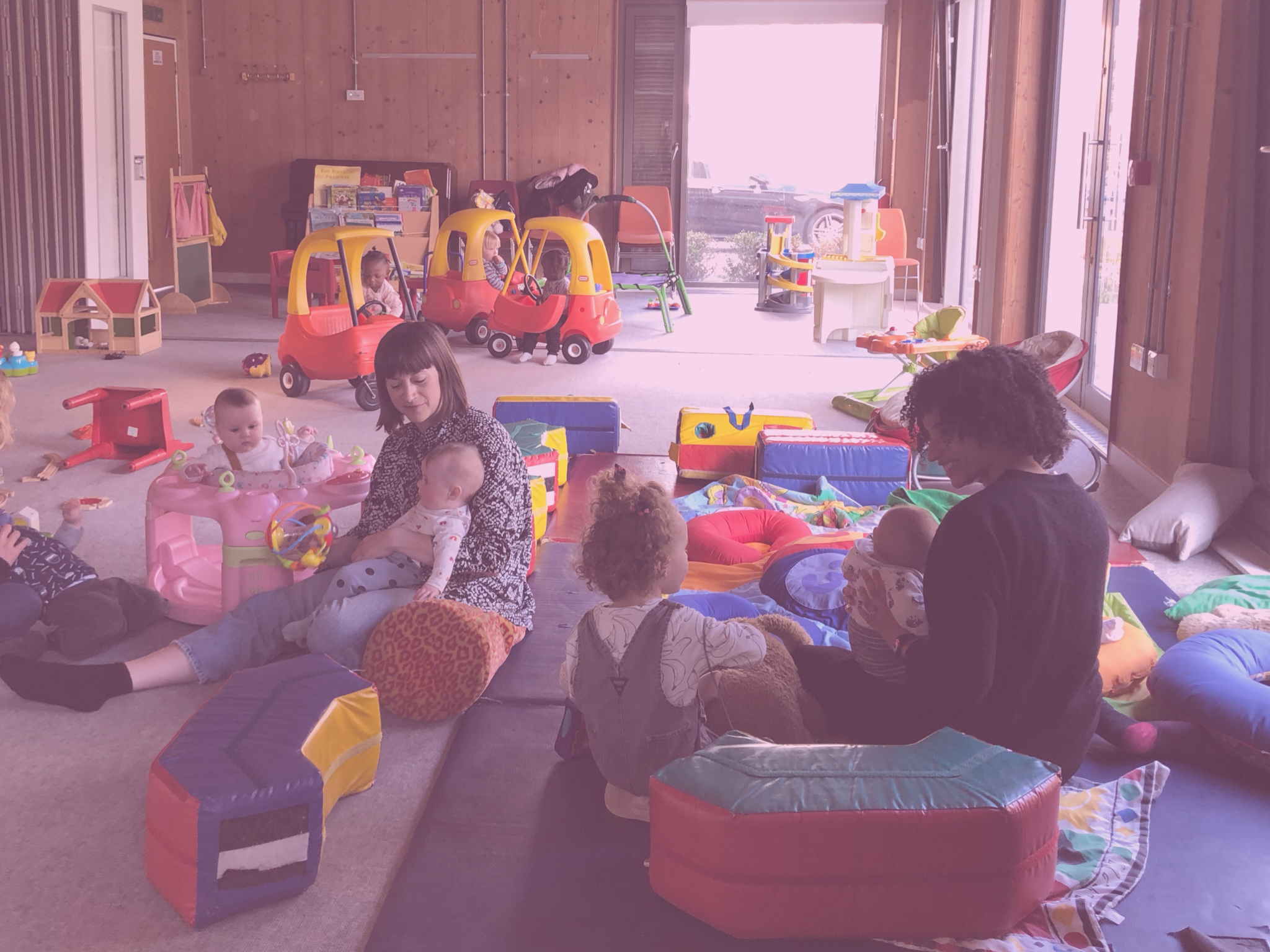 come to our playgroup - When you feel ready, come to our weekly meet up, with mats and cushions for brand-new babies, toys and books for toddlers, and -crucially- caffeine for parents: 10.30-12.30 on Tuesdays at Frampton Park Baptist Church.