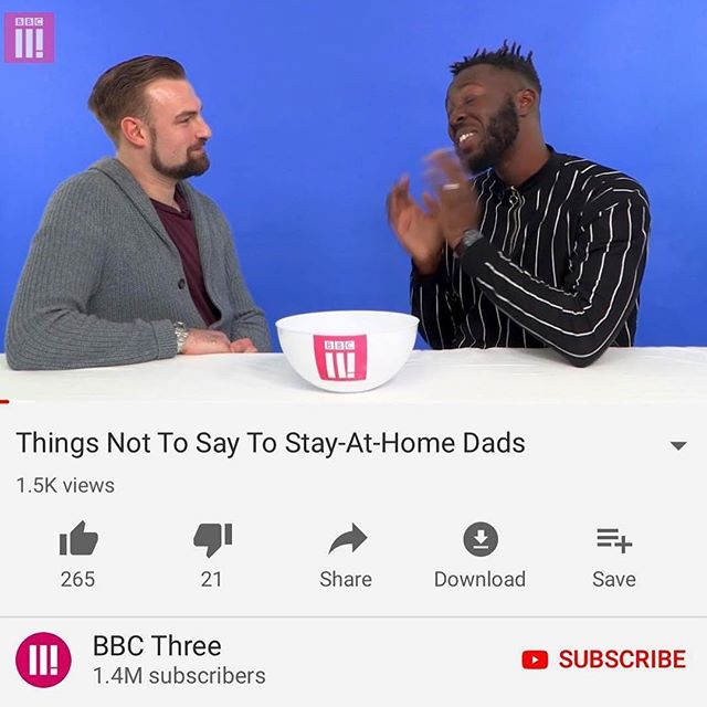 Our very own @twindadlondon representing stay at home dads (hilariously) on @bbcthree! Proud is an understatement. TEAM OSCAR 🤘🤘🤘#stayathomedad #dadsofinstagram #twindadlife #onthetelly #proud