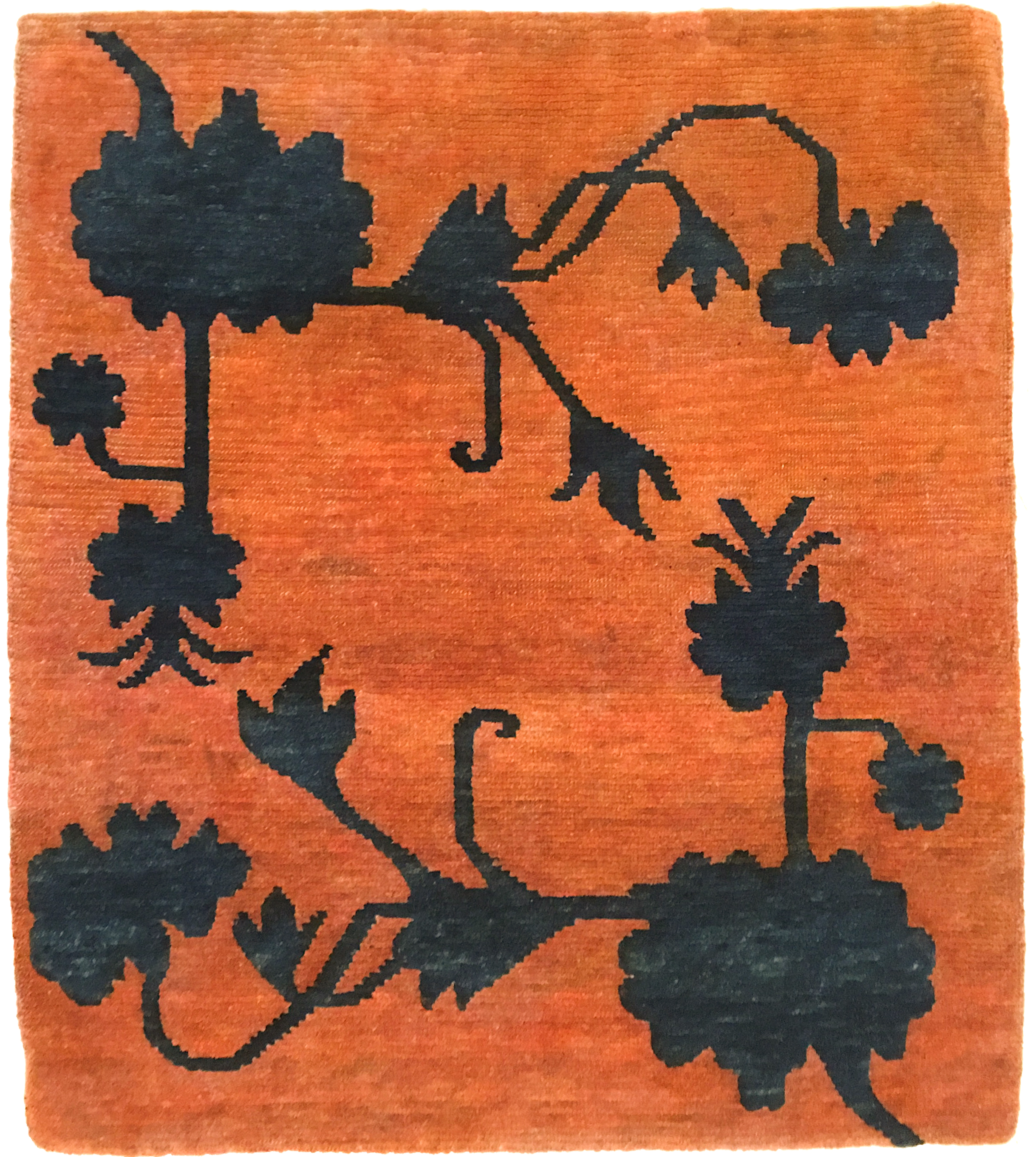 Rug with lotus flowers in relief (buma rimo 'cut like a mountain')