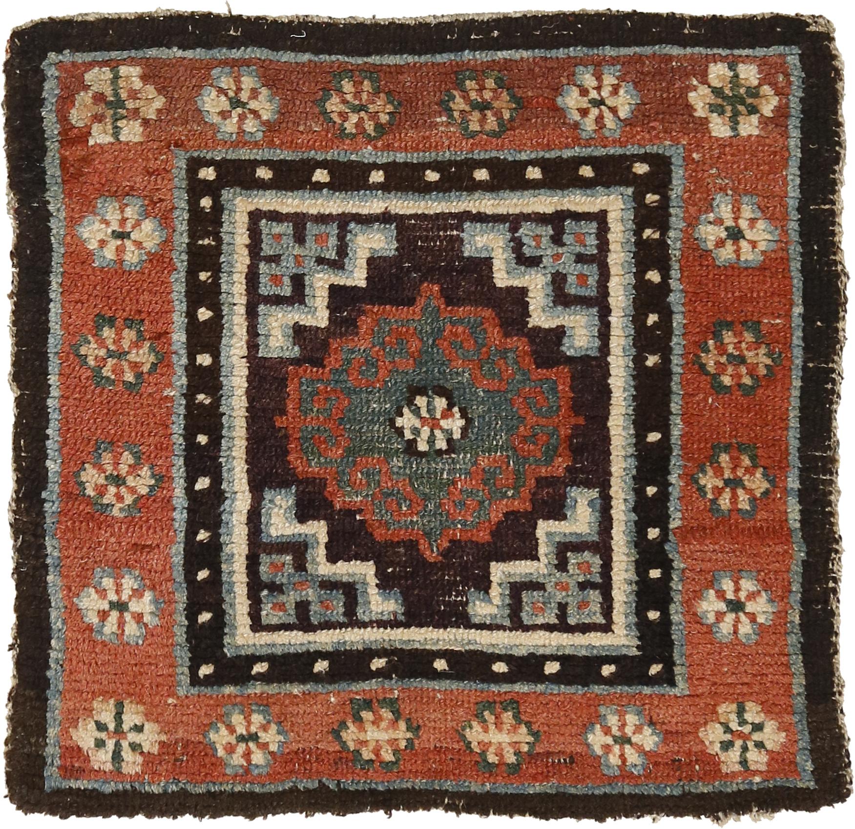 Meditation mat with archaic mandala