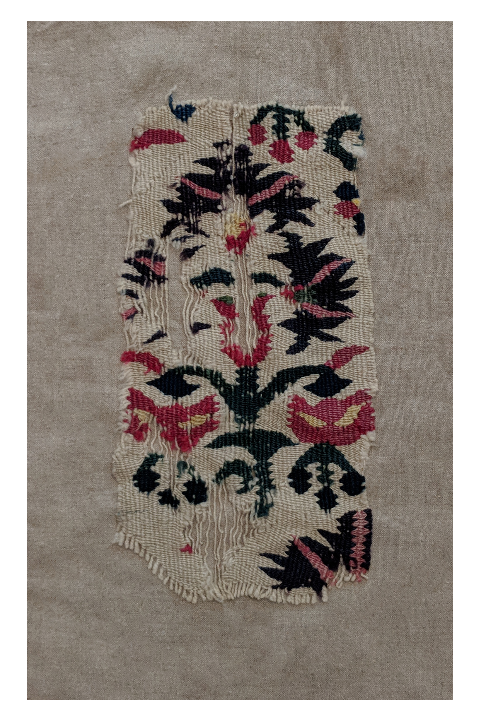 Ottoman kilim fragment with carnations