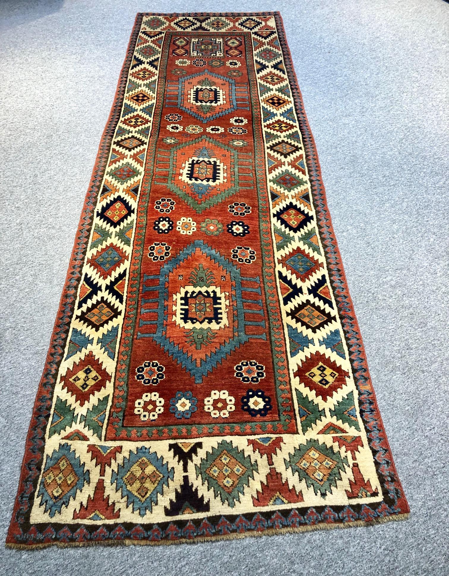 Shahsavan long rug antique