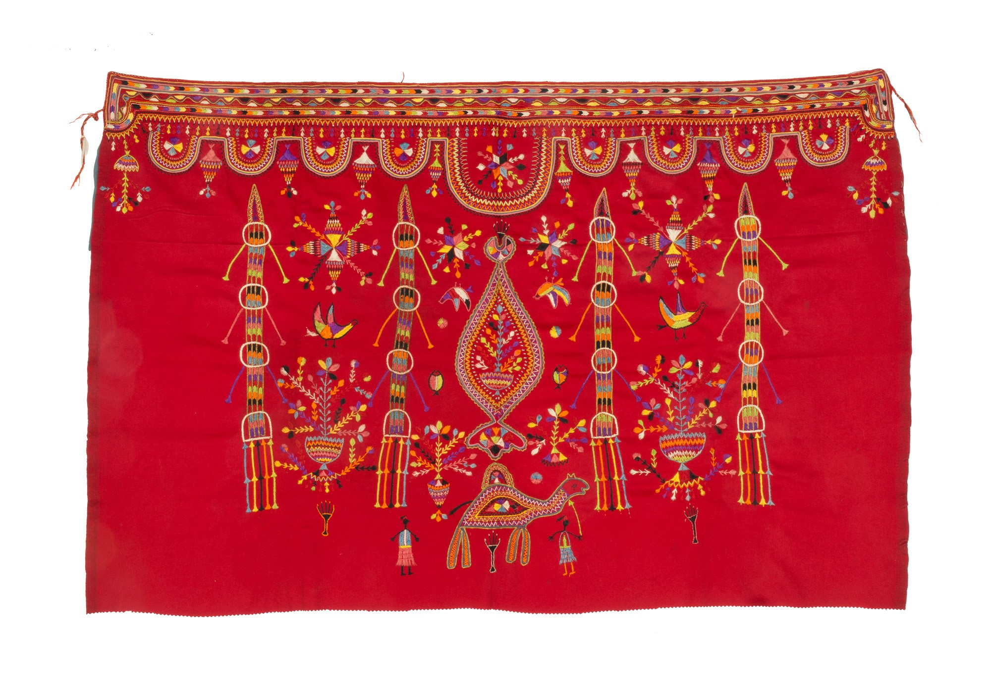 Finely embroidered women's ceremonial veil 'tajira'
