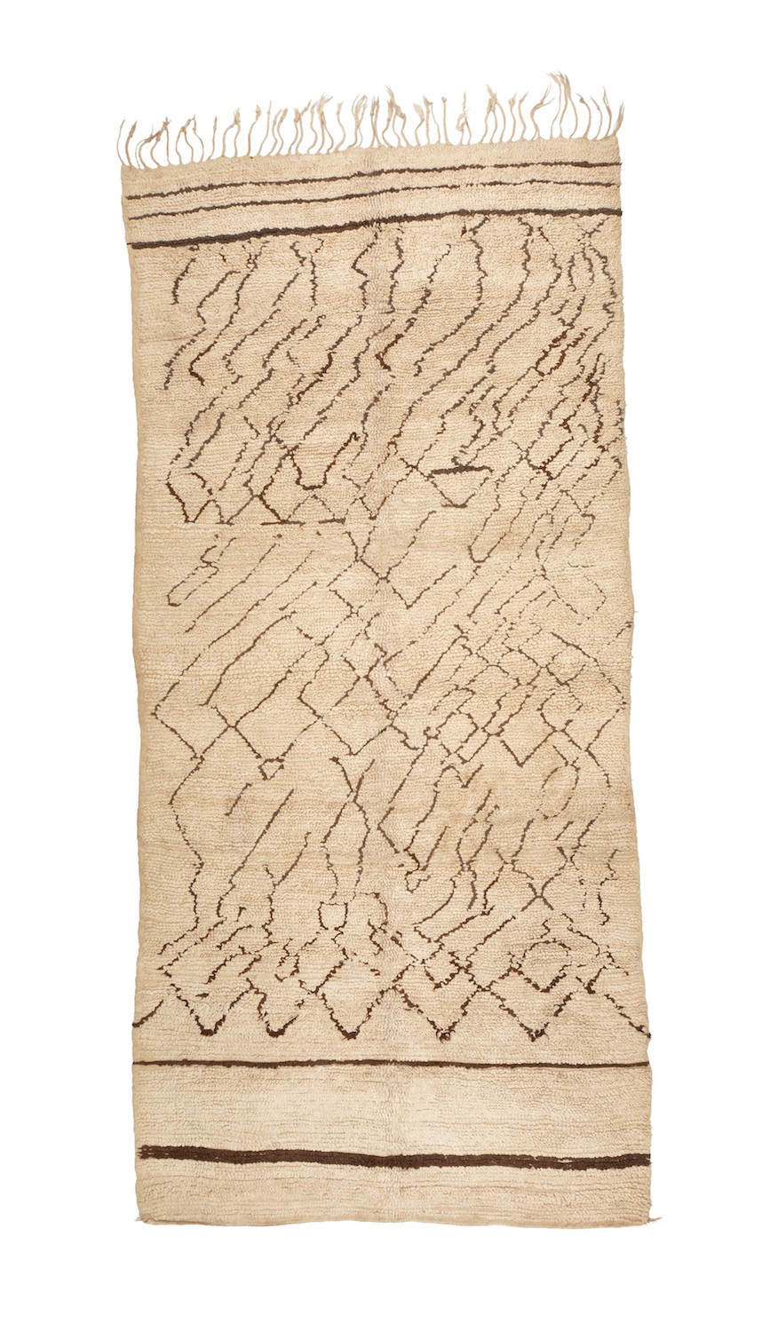 Beni Ouarain rug with looped pile