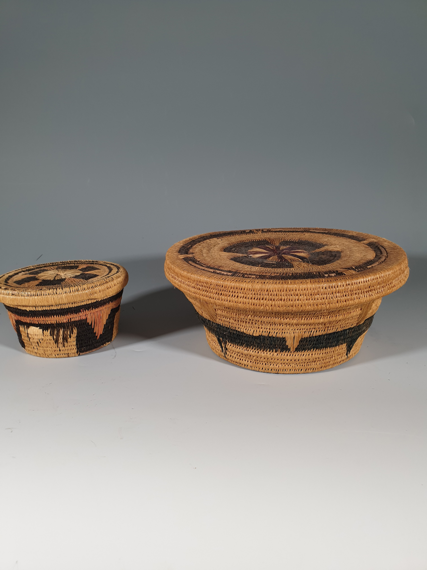 A pair of Kuba baskets