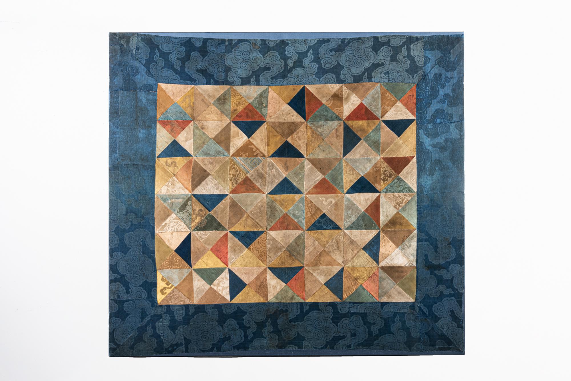 Geometric pieced ritual cloth