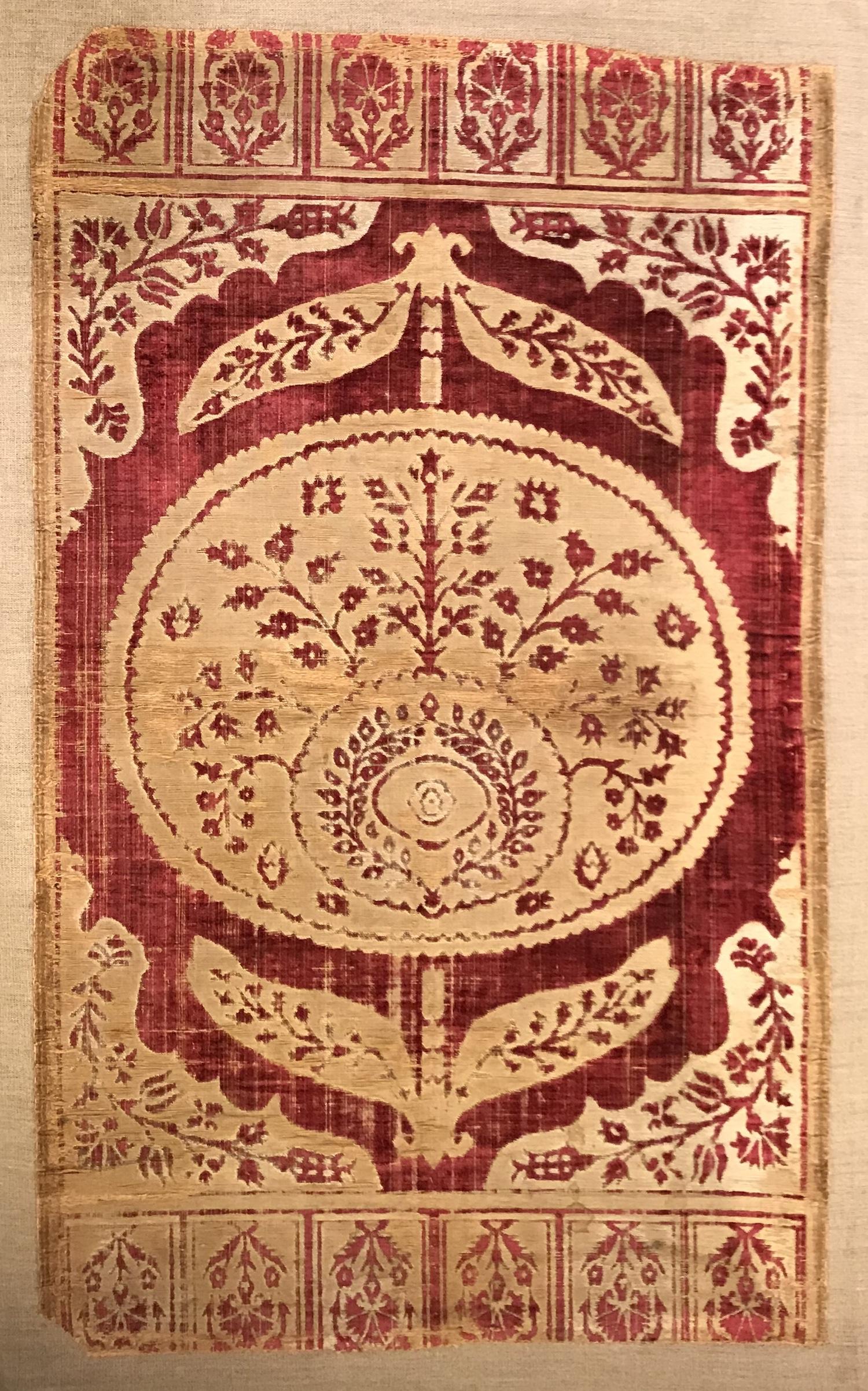 An ottoman silk velvet
